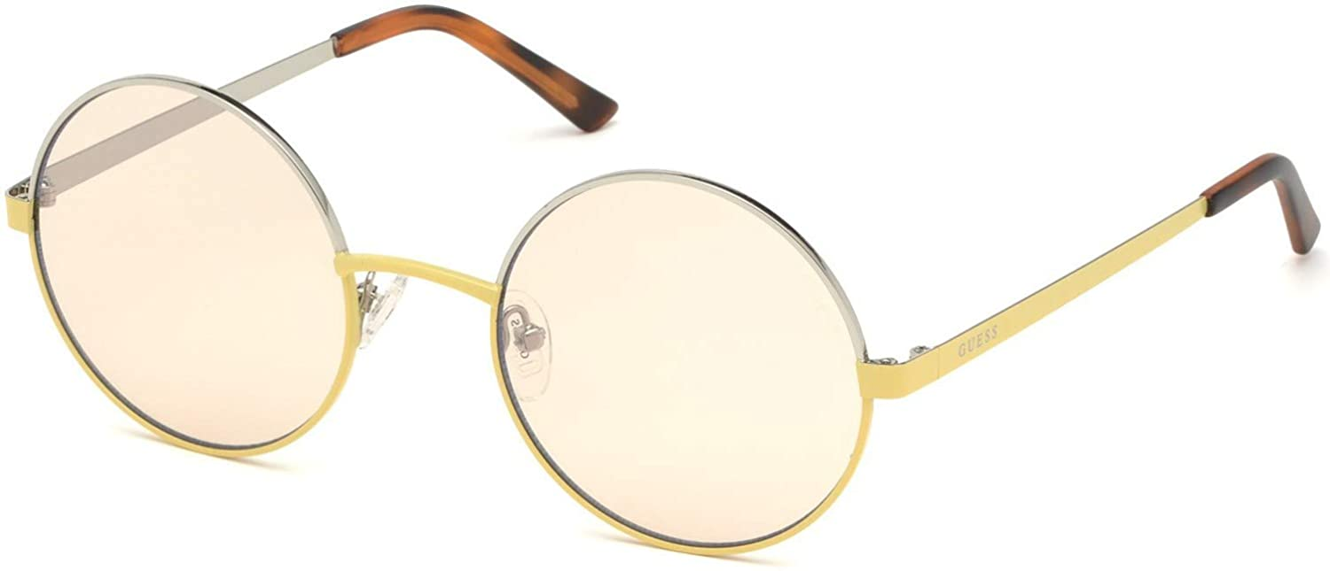 Sunglasses Guess GU 3046 39G Shiny Yellow//Brown Mirror Lenses