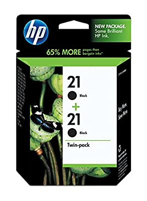 HP 21 Black Original Ink Cartridges, 2 pack (C9508FN)