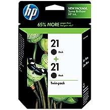 HP 21 Black Original Ink Cartridges, 2 Cartridges (C9508FN)