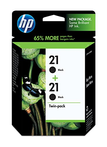 Hewlett Packard C9508FN#140 HP 21 Black Original Ink Cartridges, 2 Cartridges (C9508FN)