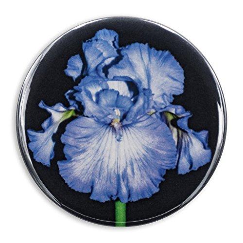 Blue Iris Photo Print, 2.25 Inch Pocket Mirror, Refrigerator Magnet or Pinback Button