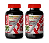 Blood Pressure Natural Supplements - Asparagus 600 Mg Young Shoots 4:1 Extract - antioxidant Weight Loss - 2 Bottles 200 Capsules