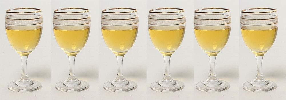 Kefbhefe Phnom Penh Glass Goblet, Hotel Special Goblet, Red Wine Glass, Beer Mug, Wine Glass, 165ML, 6 Piece Set