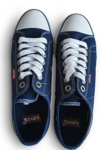 Levis Menns Stan Buck Mote Lerret Sneaker Størrelse 9 M Us Navy