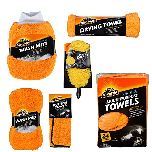 Armor All 19121 Microfiber Car Wash and Detailing Accessories Kit (6 Items)