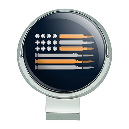 - GRAPHICS & MORE American Flag Bullets Guns USA Second 2nd Amendment Golf Hat Clip with Magnetic Ball Marker
