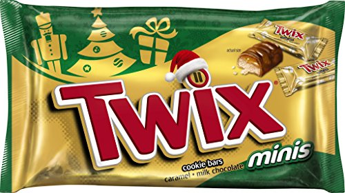 TWIX Holiday Caramel Minis Size Chocolate Cookie Bar Candy 11.5-Ounce Bag (Pack of 4)