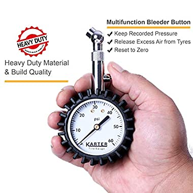 Karter™ KTR-001 Heavy Duty Premium Tyre Pressure Gauge 12