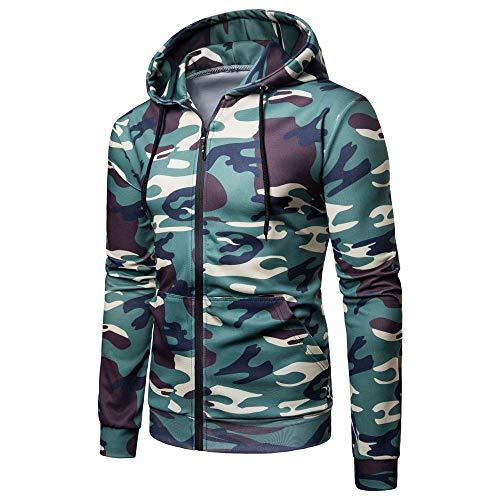iYYVV Mens Long Sleeve Camouflage Hoodie Hooded Sweatshirt Top Tee Outerwear Shirt