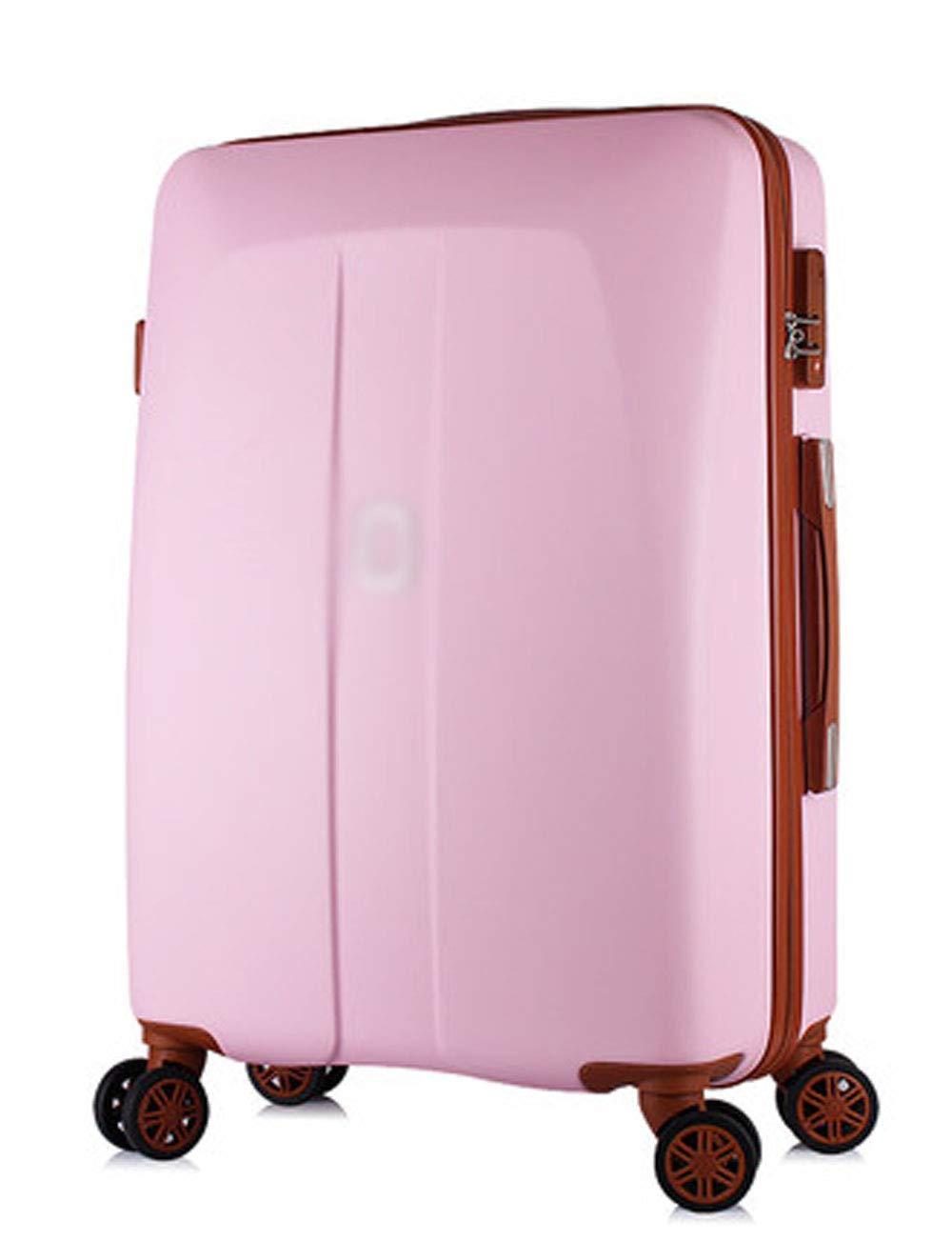 ビジネスに便利な4輪の荷物、ABS防水設計、360度の無音回転ホイール、シャシーに20インチのパスワード (色 : Pink)   B07GLQ8MJJ