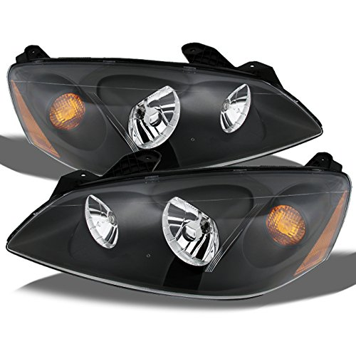 For Pontiac G6 Amber Black Bezel OE Replacement Headlights Driver/Passenger Head Lamps Pair New