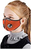 KIDS Sport Cycling Mask With Filter and 2 valves Protective Cycling Mask Activated Carbon Anti-Pollution Sport Training…