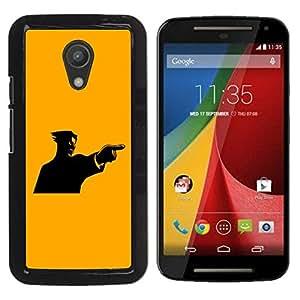 Planetar® ( Yellow Mad Guy ) Motorola Moto G2 II / Moto G (2nd gen) / Moto G (2014) Fundas Cover Cubre Hard Case Cover