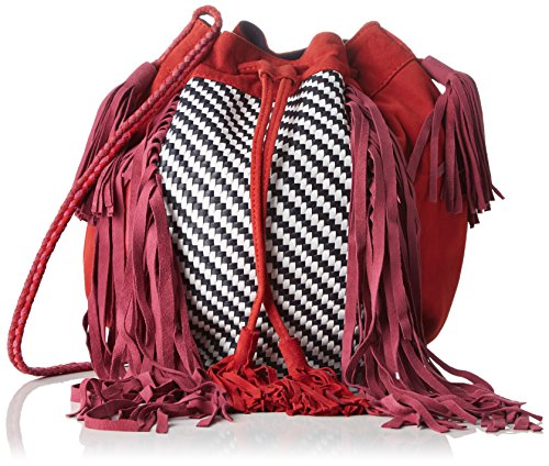 Antik Batik femme Massaa Sac  porté  épaule Rouge (Red)