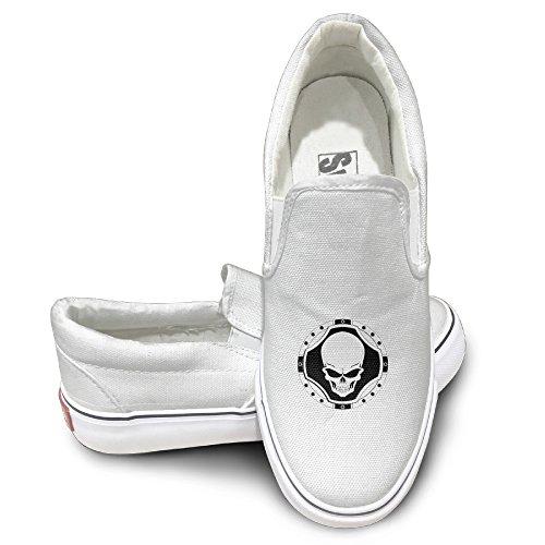 Casual Shield Skull Emblem Champinion Canvas Shoes Sneake...