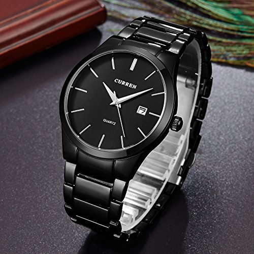 Mens-Steel-Wrist-Watch-for-Men-VOEONS-Quartz-Analog-Watch-with-date-Including-Quality-Warranty-Manual