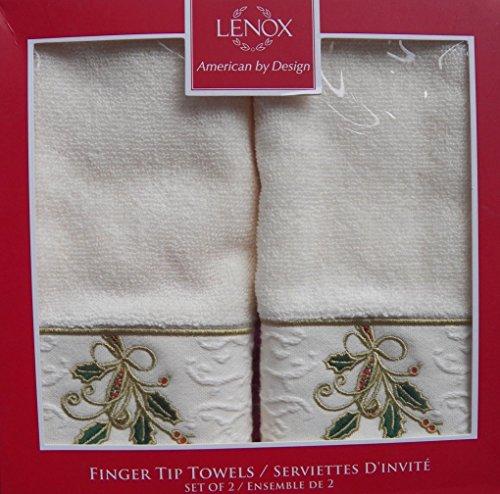 (Lenox Ribbon & Holly Finger Tip Set Ivory)