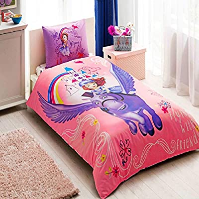 Para niños 100% algodón Disney Sofia Minimus cama individual ...