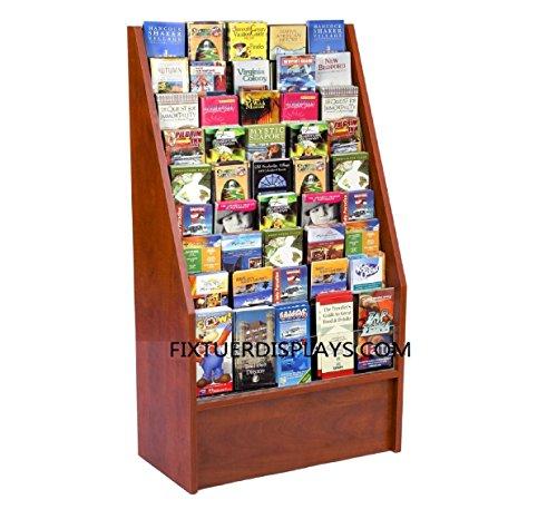 Leaflet Stand - FixtureDisplays Literature Rack Brochure Holder Leaflet Coupon Stand 1453Red