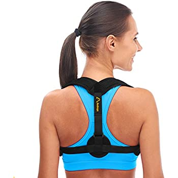 3d109b2e376 Andego Back Posture Corrector for Women   Men - Effective and Comfortable Posture  Brace for Slouching   Hunching - Discreet Design - Clavicle Support ...