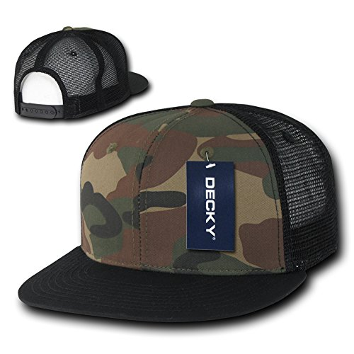 DECKY Hat Flat Bill Trucker Cap