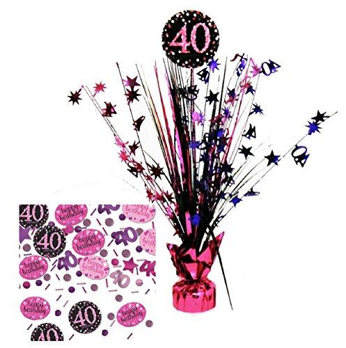 Feste Feiern Geburtstagsdeko Zum 40 Geburtstag I 2 Teile All In One