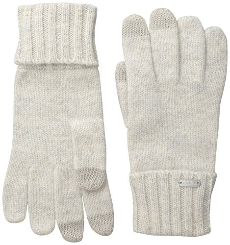 Coal Women's The Woods Lambswool Angora Touchscreen Glove, Light Grey, One -
