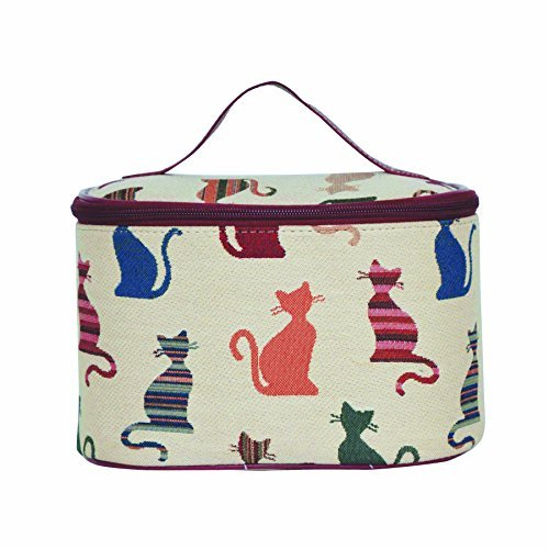 Signare Womens Vanity Bag/ Toiletry Case/ Make-Up Case, Available in 14 Designs (Cheeky Cat) by (14 Vanity Case)