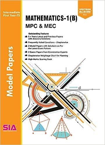 Amazon in: Buy MATHEMATICS - I(B) (INTER - First Year) M P C