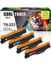 Cool Toner Compatible TN223 TN-223 TN227 Toner Replacement for Brother MFC L3770CDW Brother HL-L3210CW MFC-L3770CDW HL-L3290CDW MFC-L3710CW HL-L3230CDW MFC-L3750CDW Printer Toner (With Chip,4PK)