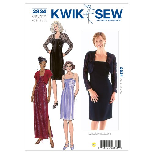 Bolero Sewing Pattern - Kwik Sew K2834 Dresses and Boleros Sewing Pattern, Size XS-S-M-L-XL