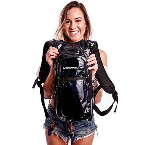 Holographic Rave Hydration Pack by Vibedration | 2L Water Capacity | Festival Fashion, Perfect for Hiking & Camping