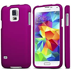 Slim Light Weight 2 piece Snap On Non-Slip Matte Hard Rubber Coated Rubberized Premium Protection Case Cover For Samsung Galaxy S5 SV M-G900H - Retail Packaging