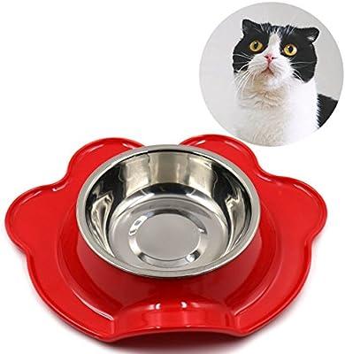 Legendog Plato de Comida para Gatos Cuenco de Agua para Perros ...