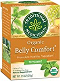 Traditional Medicinals Organic Belly Comfort Peppermint Digestive Tea, 16 Tea Bags (Pack of 6)