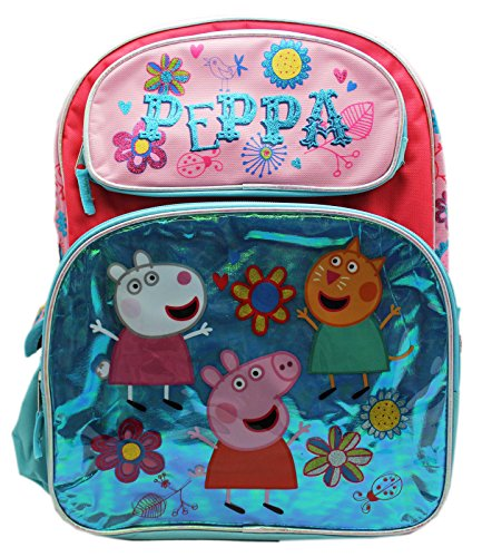 Nick Jr's Peppa Pig Springtime Fun Vinyl Graphic Full Size Backpack -