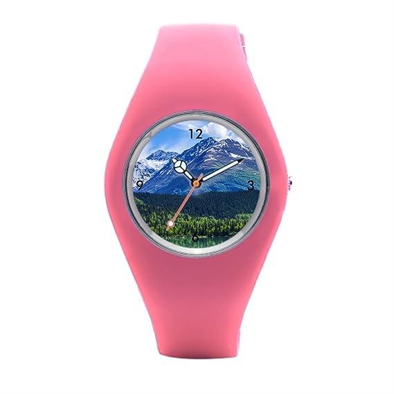 timetoshine mejor reloj de pulsera fina relojes de montaña con bandas de silicona: Amazon.es: Relojes