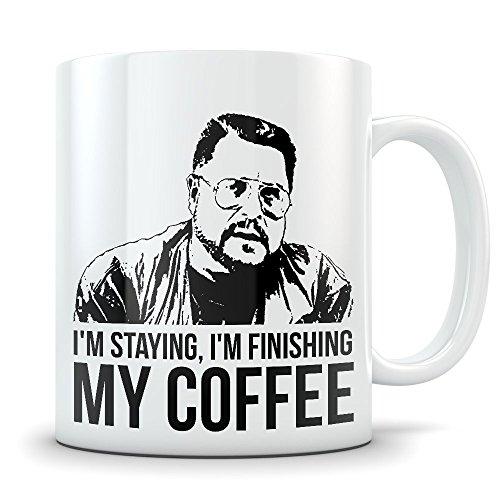 [Big Lebowski Mug - Funny Walter Sobchak Mug Coffee Cup - Great Gift Mug for Fans of The Movie - I'm Finishing My Coffee] (Lebowski Rug Costume)