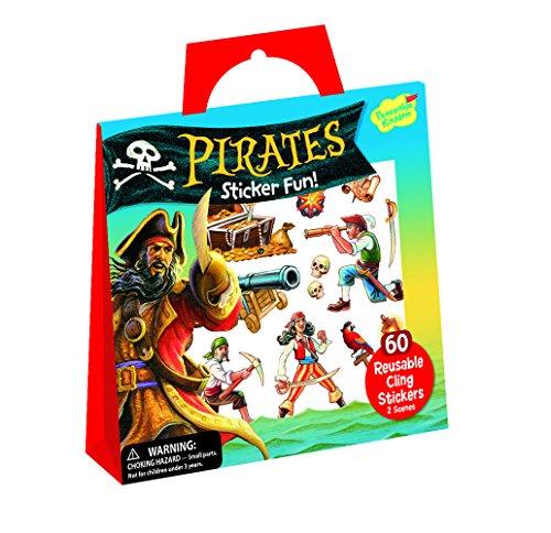 Peaceable Kingdom Sticker Fun! Pirates Reusable Sticker Tote (Activity Pirate Ship Sticker)