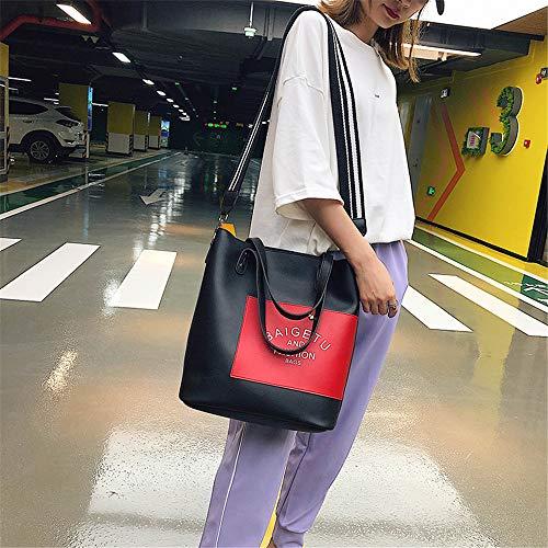 coréens bandoulière grand LANDONA sac sac à de de noir souple femme étudiants femme sauvages La sac nouvelle mode simple messager vague sac cuir OYqCzOw
