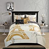 Casa Paris Comforter Set, Full, Gold