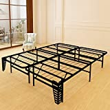 Foldable Bed Frame Metal Platform Base 14Inch Box Spring Replacement Mattress Foundation Heavy