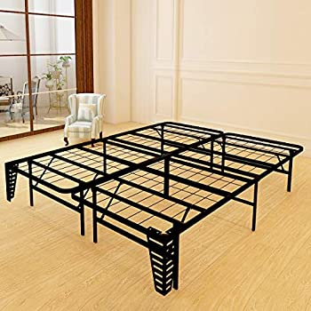 Amazon Com Foldable Bed Frame Metal Platform Base 14inch