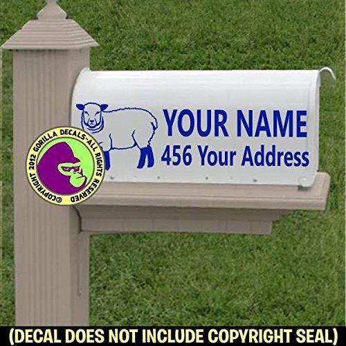 SHEEP Custom Mailbox Set Vinyl Decal Sticker E
