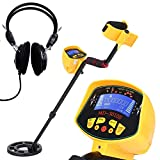 KKmoon Metal Detector Underground Metal Detector High Sensitivity High Performance Gold Digger Treasure Hunter Metal Finder Treasures Seeking Tool (with Earphone)Yellow / Gold