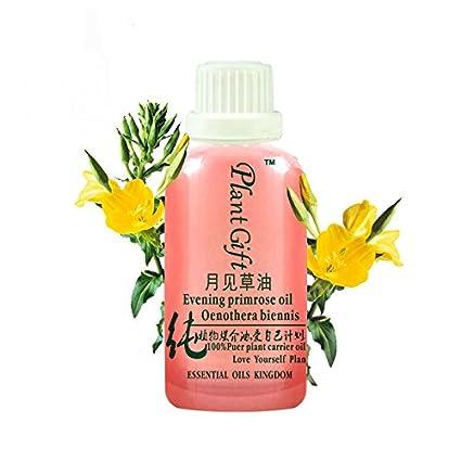 Plant Gift-Puro aceite de onagra - rostro, piel y cabello - presión fría