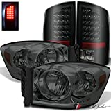 08 dodge ram smoked headlights - For 2007-2008 Dodge Ram 1500, 2007-2009 Ram 2500/3500 Smoke Headlights + Black Smoked LED Tail Lights 2006