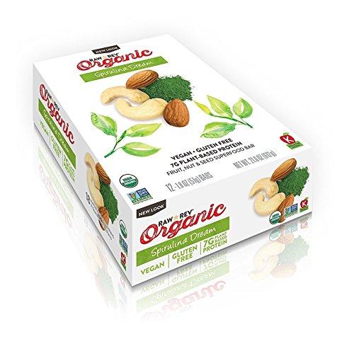 Raw Rev Organic Vegan, Gluten-Free Fruit, Nut, Seed Bars - Spirulina Dream 1.8 ounce (Pack of 12)