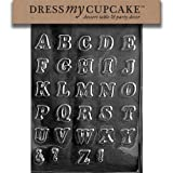 Dress My Cupcake Chocolate Candy Mold, Letters A-Z Small