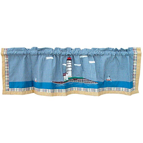 Patch Magic Lighthouse by Bay Curtain Valance, 54-Inch by 16-Inch